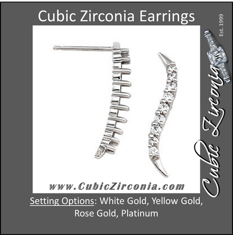 Cubic Zirconia Earrings- 0.30 Carat Round Cut Swirl Earring Set