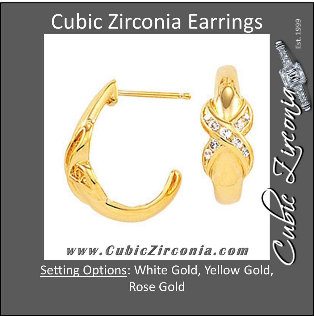 Cubic Zirconia Earrings- Dangle