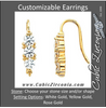 Cubic Zirconia Earrings- Customizable 3-Stone Round Cut CZ Earring Set