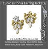 Cubic Zirconia Earrings- Jacket