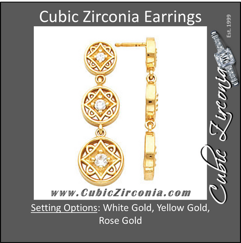 Cubic Zirconia Earrings- Articulated