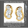 Cubic Zirconia Earrings- 0.54 Carat 3-Stone Channel Setting Earring Set