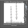 Cubic Zirconia Earrings- Journey Graduated 5-Stone Bar