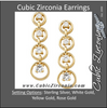 Cubic Zirconia Earrings- Journey 4 Stone Circle