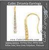 Cubic Zirconia Earrings- 0.70 Carat Graduated Round Cut Journey Earring Set