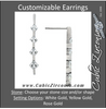 Cubic Zirconia Earrings- Customizable Graduated 4-Stone Princess Cut Straight Drop Journey Earring Set