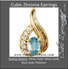 Cubic Zirconia Earrings- 0.62 Carat Vintage Teardrop-Inspired Oval Cut Drop Dangles Earring Set