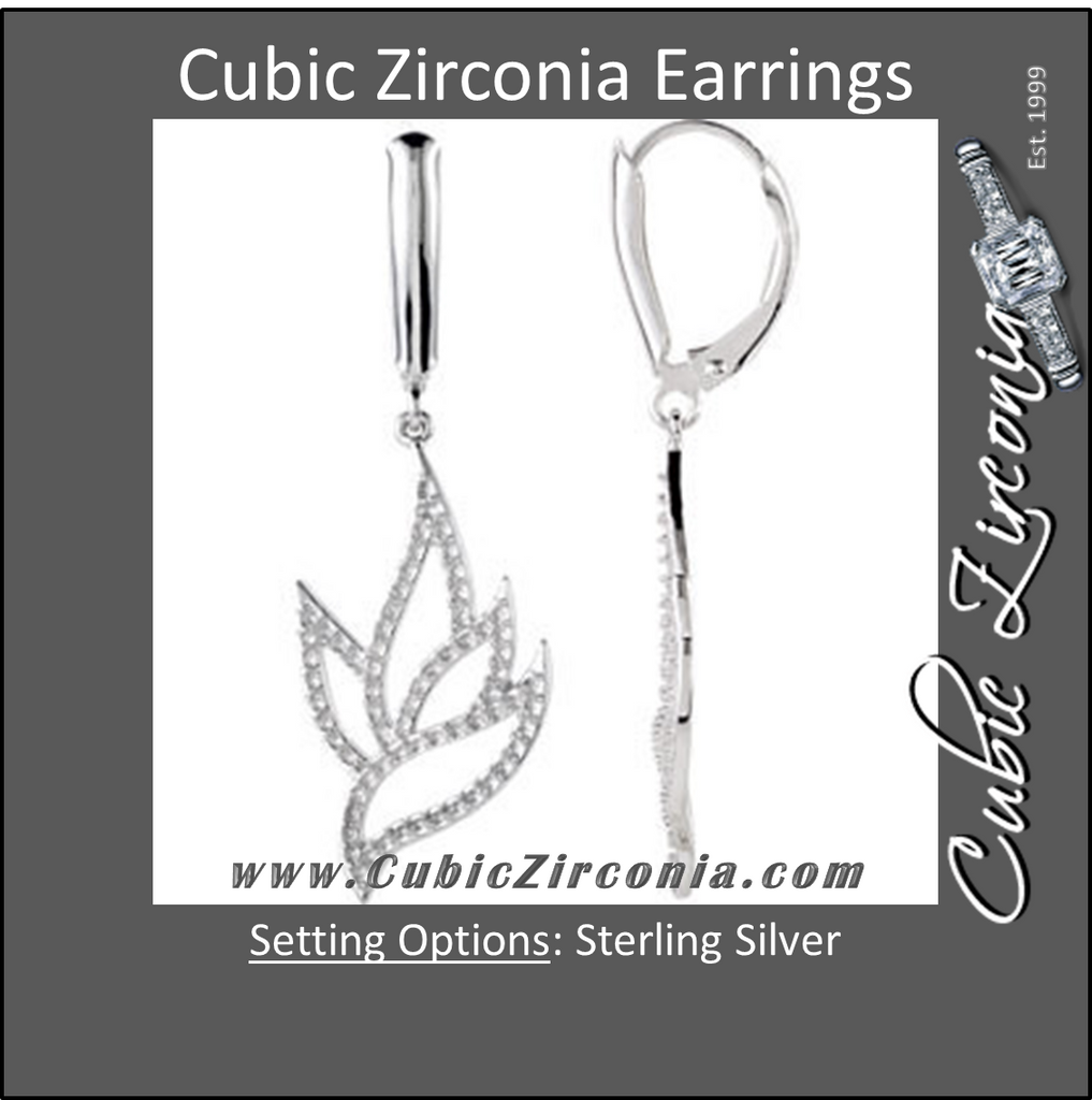 Cubic Zirconia Earrings- Lever Back for Gemstones