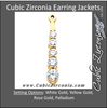 Cubic Zirconia Earrings- Customizable Graduated 5-stone Round CZ Earring Jacket Set