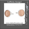 Men's Cufflinks- Sterling Silver Indian Head Penny Coins