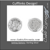 Men's Cufflinks- Sterling Silver Mercury Dime Coin Jewelry