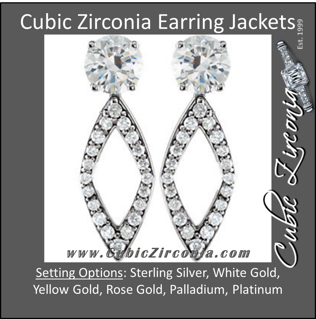 Cubic Zirconia Earrings- Jackets