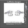 Men's Cufflinks- Sterling Silver HERSHEY'S KISSES ©