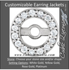 Cubic Zirconia Earrings- .90mm Round Earring Jacket