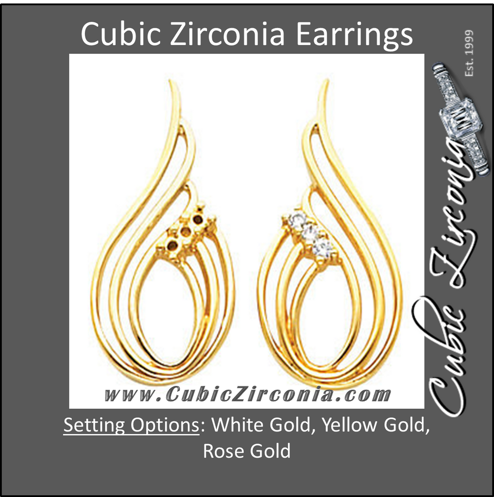 Cubic Zirconia Earrings- Fashion Drop