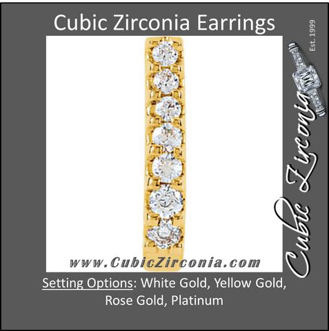 Cubic Zirconia Earrings- 0.30 Carat Round Cut Shared Prong Earring Set