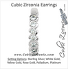 Cubic Zirconia Earrings- 0.42 Carat Round Cut Channel Set J Hoop Earring Set