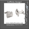 Men's Cufflinks- Stainless Steel Classic Rectangular Design