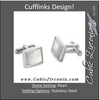Men's Cufflinks- Stainless Steel Inlaid with Mother of Pearl