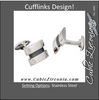 Men's Cufflinks- Stainless Steel Carpenter's Design