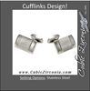 "Men's Cufflinks- Stainless Steel ""Radio Mic"" Inspired Design"