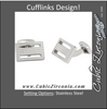 "Men's Cufflinks- Stainless Steel ""Aluminum Toolbox"" Inspired"