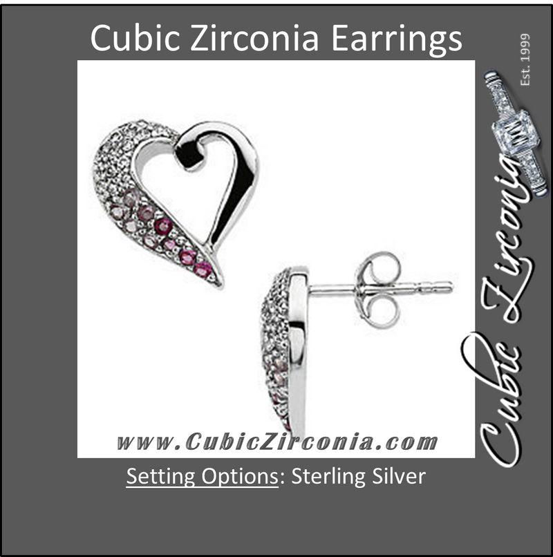 Cubic Zirconia Earrings- Because™