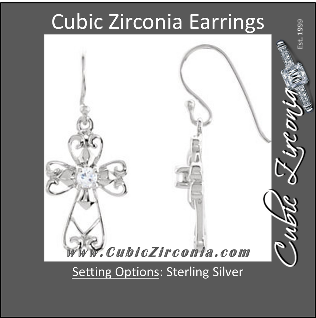 Cubic Zirconia Earrings- Jesus, The Morning Star