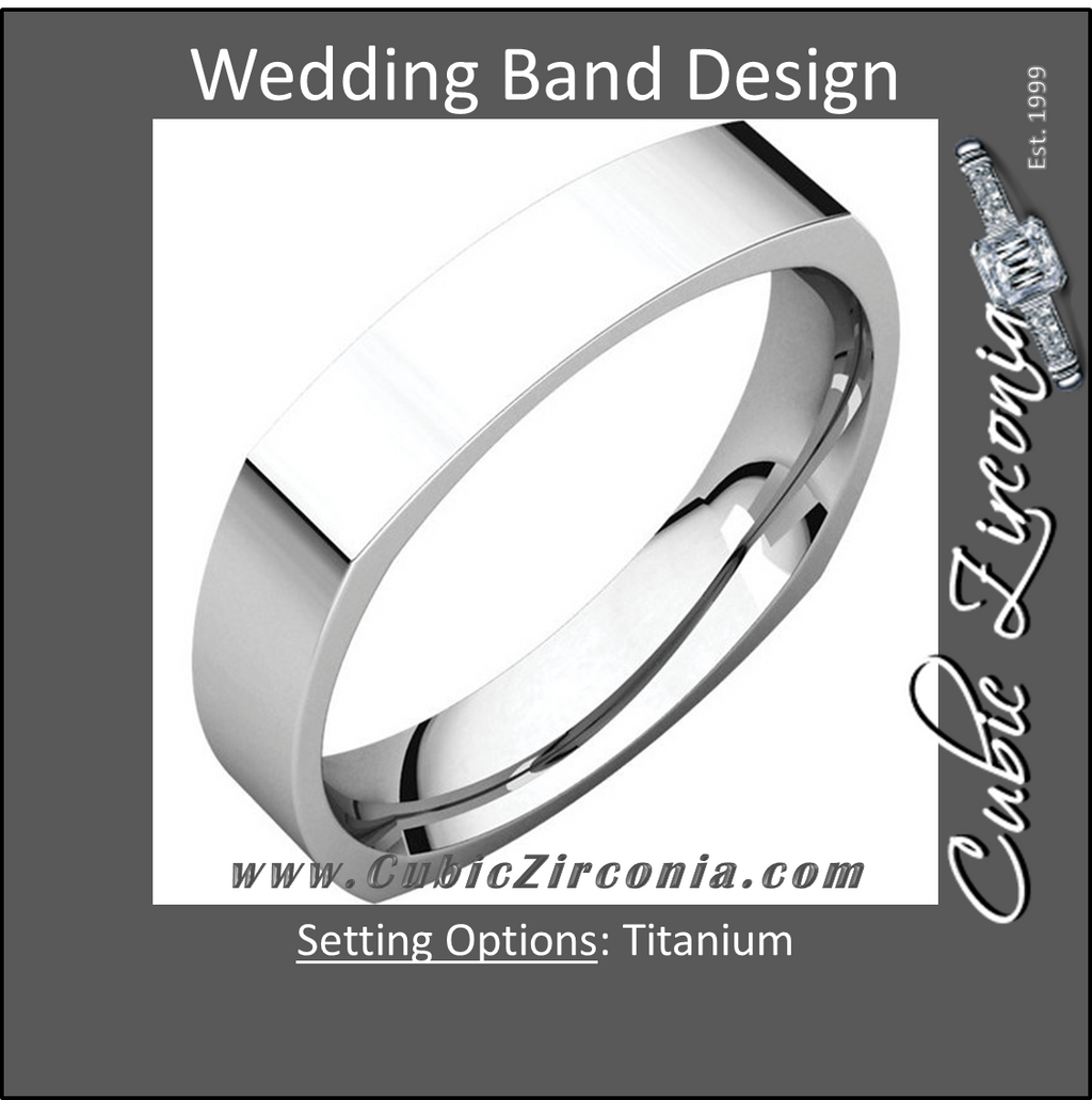 Men's Wedding Band – The Mark Twain Ring (Titanium 6mm Square Comfort Fit)