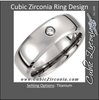 Cubic Zirconia Men's Wedding Band – The Jakob Fugger Ring (0.05 TCW 8mm Titanium Beveled)