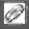 Men's Wedding Band – The Ariel Sharon Ring (6mm Titanium Domed)