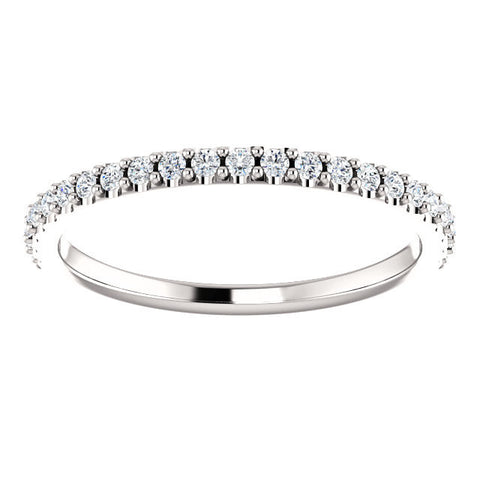 Cubic Zirconia Anniversary Ring Band, Style 122-147 (Round Cut Pave)