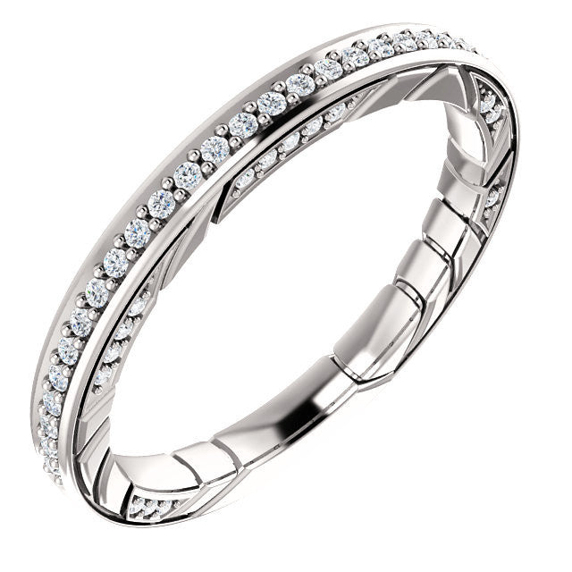 Cubic Zirconia Anniversary Ring Band, Style 12-461 (0.25 TCW Round Prong)