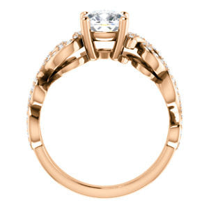 Cubic Zirconia Engagement Ring- The Carla (Customizable Cushion Cut Split-Band Curves)