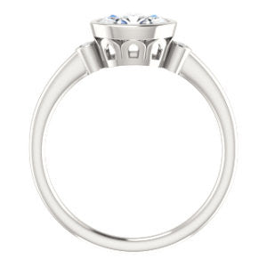 Cubic Zirconia Engagement Ring- The Analise (Customizable Oval Cut)