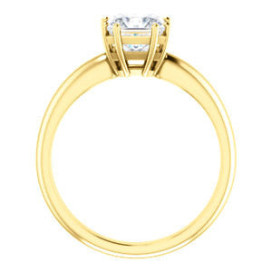 Cubic Zirconia Engagement Ring- The Ziitlaly (Customizable Princess Cut Solitaire with High Basket)