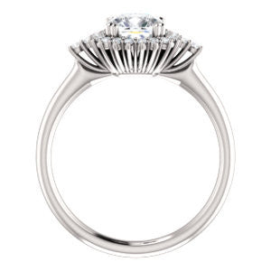 Cubic Zirconia Engagement Ring- The Amy Kiara (Customizable Cushion Cut)
