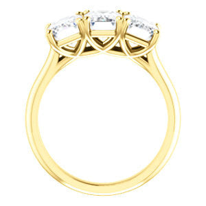 Cubic Zirconia Engagement Ring- The Londyn (Customizable Triple Radiant Cut 3-stone Style)