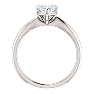 Cubic Zirconia Engagement Ring- The Nyah (Customizable Heart Cut Solitaire with Tapered Bevel Band)