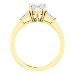 Cubic Zirconia Engagement Ring- The Bhakti (Customizable Enhanced 5-stone Heart Cut Design with Thin Pavé Band)