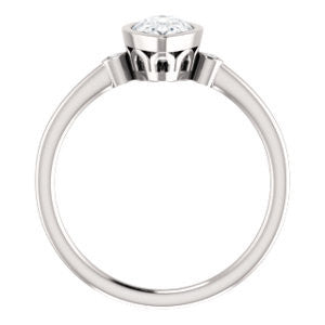 Cubic Zirconia Engagement Ring- The Analise (Customizable Pear Cut)