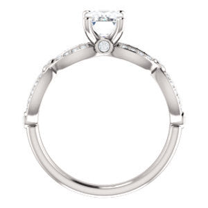 Cubic Zirconia Engagement Ring- The Catalina (Customizable Radiant Cut)
