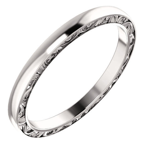 Cubic Zirconia Anniversary Ring Band, Style 512-47 (Sabrina Matching Band)