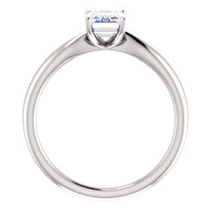 Cubic Zirconia Engagement Ring- The Nyah (Customizable Radiant Cut Solitaire with Tapered Bevel Band)
