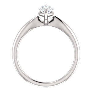 Cubic Zirconia Engagement Ring- The Nyah (Customizable Marquise Cut Solitaire with Tapered Bevel Band)