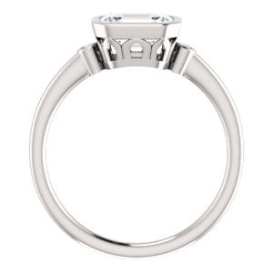 Cubic Zirconia Engagement Ring- The Analise (Customizable Emerald Cut)