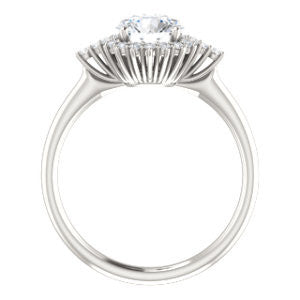 Cubic Zirconia Engagement Ring- The Amy Kiara (Customizable Round Cut)