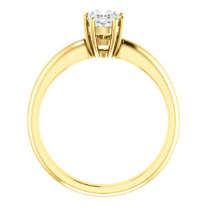 Cubic Zirconia Engagement Ring- The Ziitlaly (Customizable Oval Cut Solitaire with High Basket)