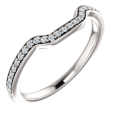 Cubic Zirconia Anniversary Ring Band, Style 122-271 (Bhakti Matching Band)