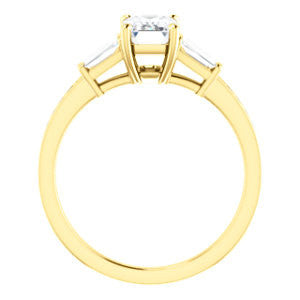 Cubic Zirconia Engagement Ring- The Bhakti (Customizable Enhanced 5-stone Radiant Cut Design with Thin Pavé Band)